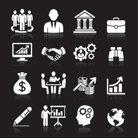 management concept: Iconos de negocios, gesti�n y recursos humanos set1