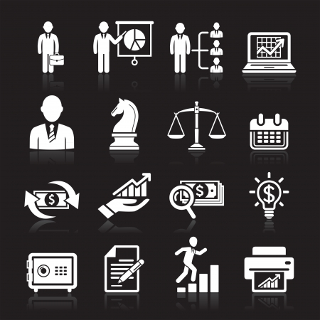 Business icons, management and human resources set2 Stock Vector - 16175448
