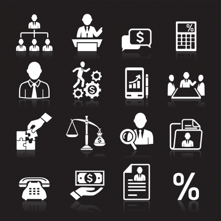 Business icons, management and human resources set3   Vector