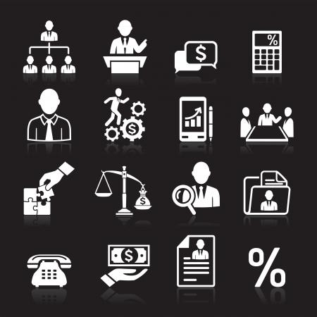 justiz: Business icons, Management und Human Resources set3