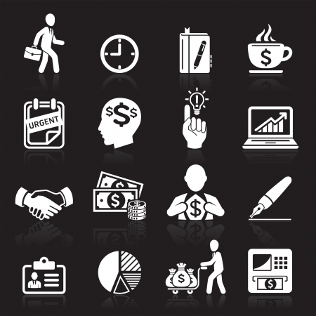 business decisions: Business icons, management and human resources set4