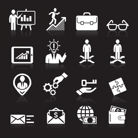 binoculars: Business icons, management and human resources set5