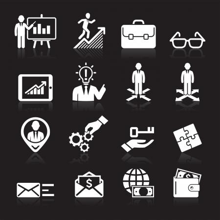mail man: Iconos de negocios, gesti�n y recursos humanos Set5 Vectores