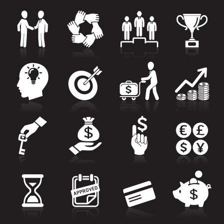 Business icons, management and human resources set6   Illustration