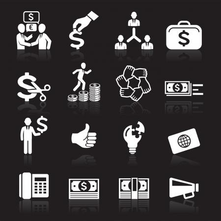 bank manager: Iconos de negocios, gesti�n y recursos humanos SET7 Vectores