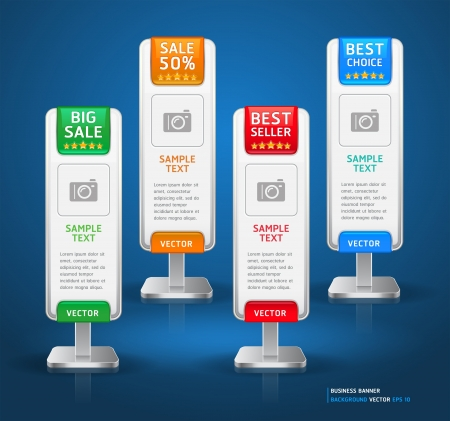 prices: Business Stand Display Banner   Card Background  Vector illustration  More banner in my portfolio