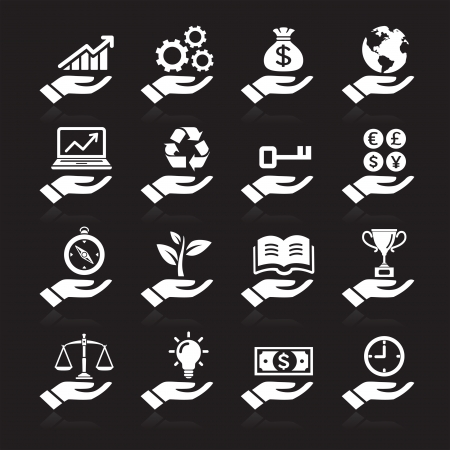 Hand concept icons  vector eps 10