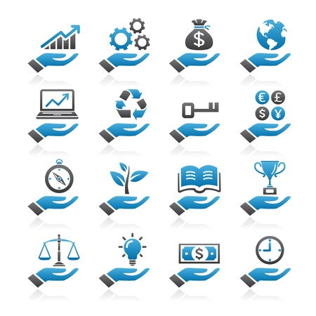 vzdělávací: Ruční koncept barevné ikony