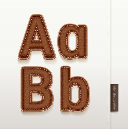 Alphabet Leather Skin Texture   illustration  More leather typeface style in my portfolio  Illustration
