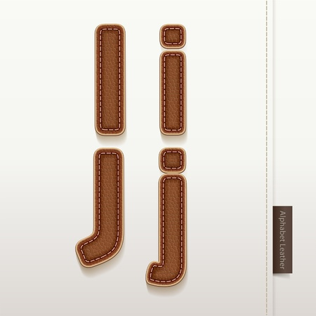 Alphabet Leather Skin Texture   illustration  More leather typeface style in my portfolio  Vector