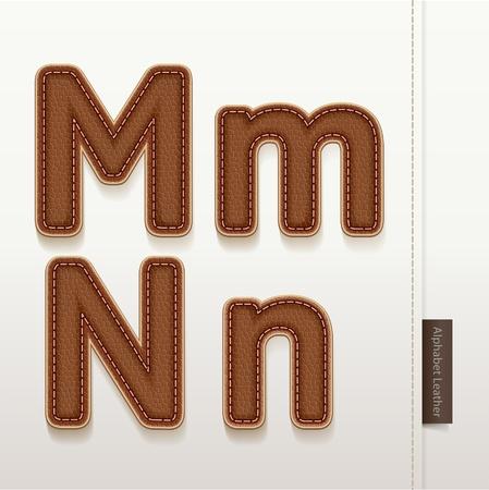peau cuir: Alphabet cuir texture de peau illustration Plus de style en cuir caract�res dans mon portefeuille Illustration