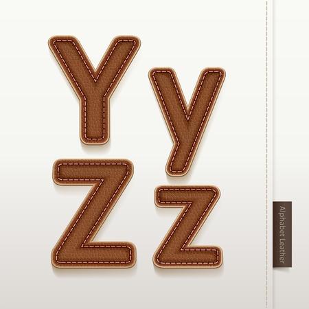 typeface: Alphabet Leather Skin Texture  illustration  More leather typeface style in my portfolio