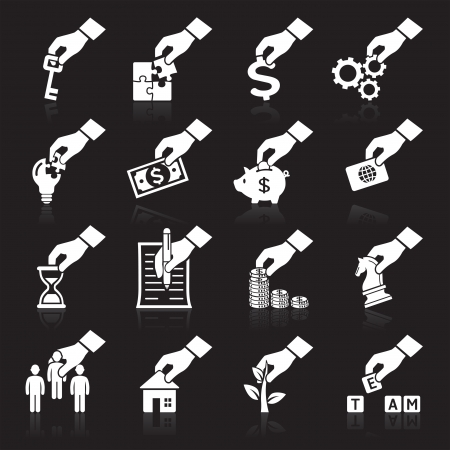 histogram: Hand concept icons More icons in my portfolio