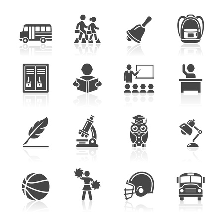 Iconos de Educación establece tres iconos vector Más en mi cartera Ilustración de vector