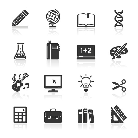 scissors icon: Education Icons set 1  Vector Illustration  More icons in my portfolio