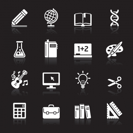 computer education: Education Icons set 1  Vector Illustration  More icons in my portfolio