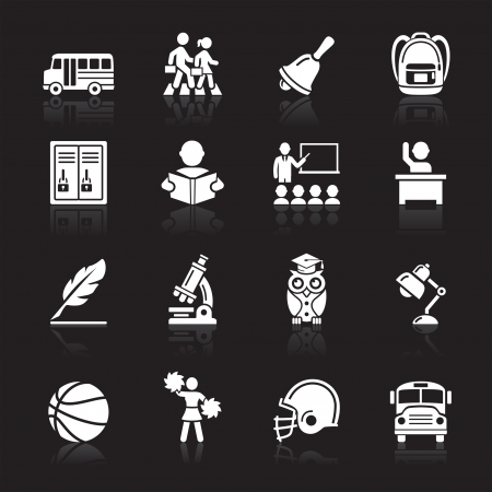Education Icons set 3  Vector Illustration  More icons in my portfolio Stock Vector - 16400351