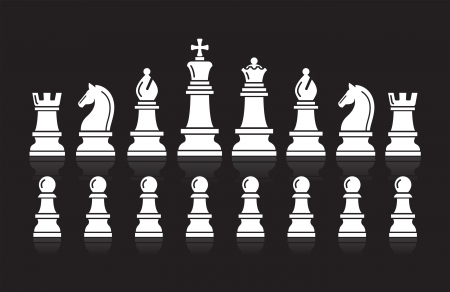 knights: Chess icons  Vector Illustration  Illustration