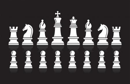 Schaken iconen Vector Illustratie