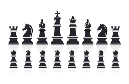 bishop chess piece: Chess icons  Vector Illustration  Illustration