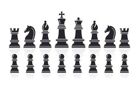 chess knight: Vector Chess icone illustrazione