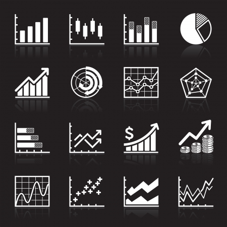 growth chart: Business Infographic icons - Vector Graphics