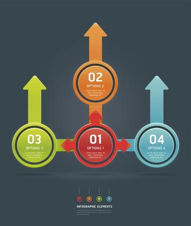pfeil: Colorful Anzahl Optionen Banner Vorlage Illustration