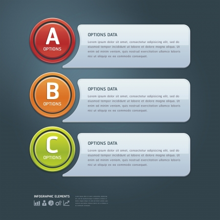 number button: Colorful Options Banner template  illustration