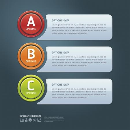knop: Kleurrijke Opties Banner template afbeelding