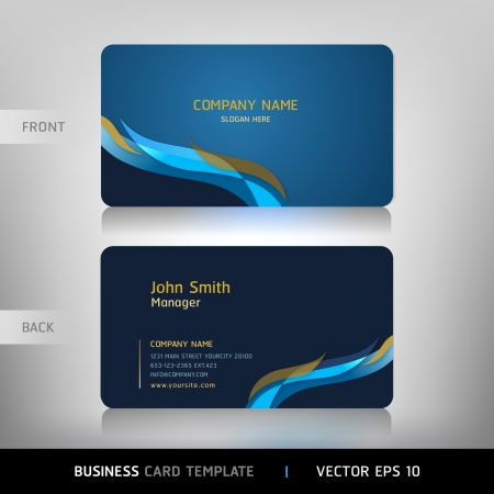 visitekaartje: Business card abstracte achtergrond Vector illustratie