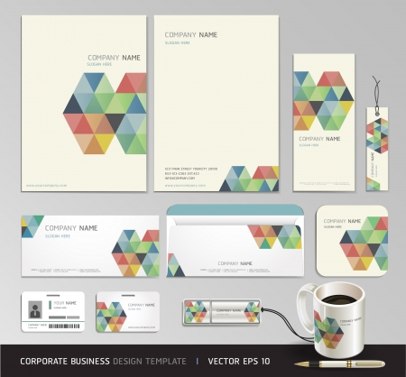 Corporate identity business set design  Abstract background Vector illustration