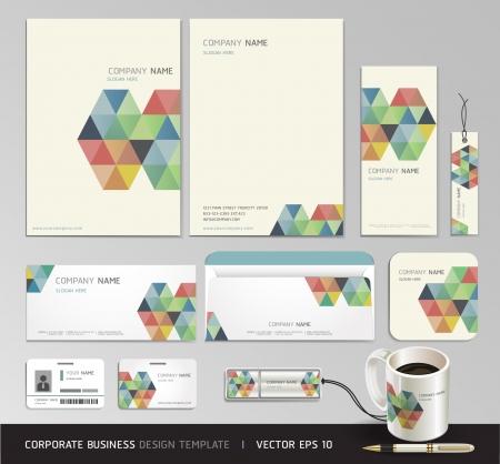 Huisstijl bedrijf set ontwerp Abstract achtergrond Vector illustratie