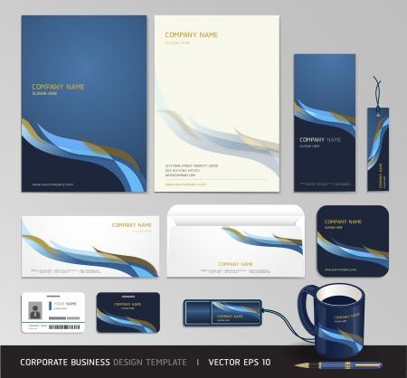 carpetas: Empresa de identidad corporativa escenograf�a abstracta del fondo Ilustraci�n vectorial