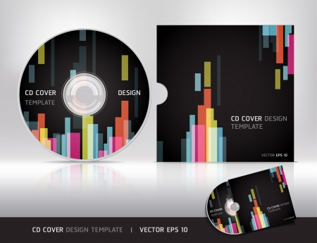 Cd cover design template   Abstract background Vector illustration Stock Vector - 16574853