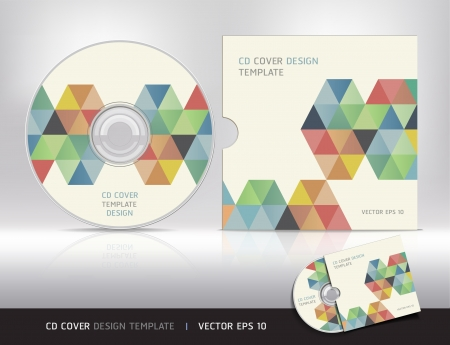 Cd cover design modello astratto sfondo illustrazione vettoriale