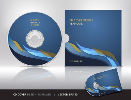 Cd cover design template   Abstract background Vector illustration  Vector