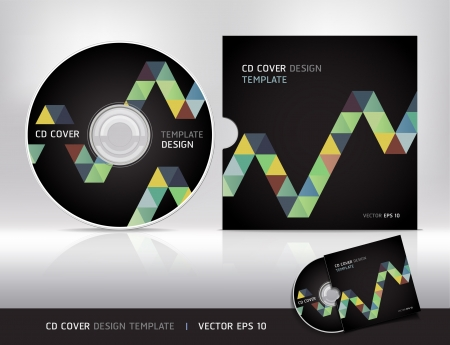 Cd cover design template Abstract background Vector illustration