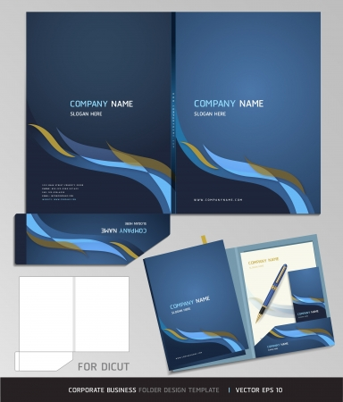 Corporate Identity Business Set  Folder Design Template  Vector illustration  Illustration