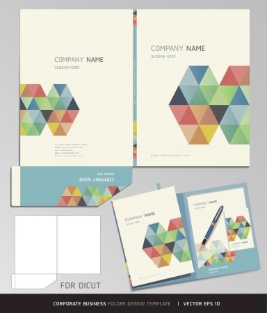 Corporate Identity Business Set  Folder Design Template  Vector illustration  Vectores