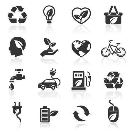 Ecology icons Stock Vector - 16638506