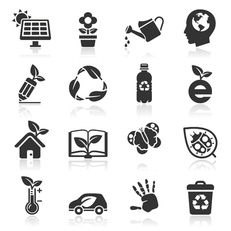 Ecology icons Stock Vector - 16638504