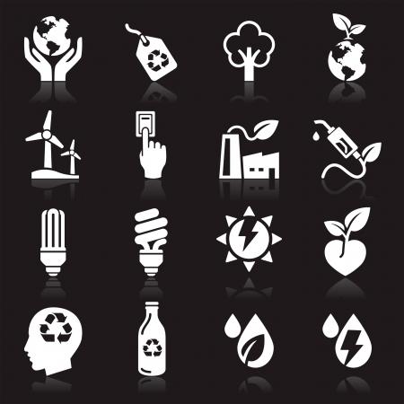 interruttore: Ecologia icone Vettoriali