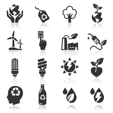 business environment: Ecology icons  Illustration