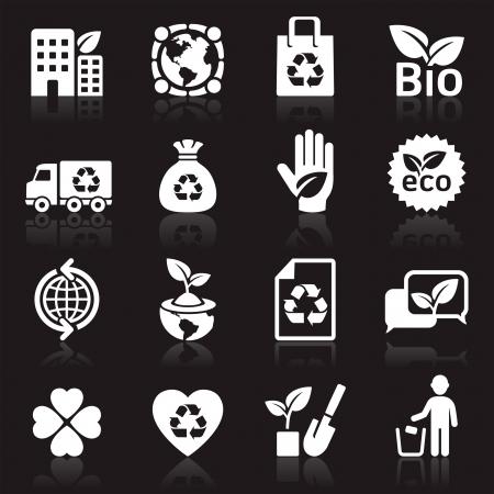 reciclar: �cones da ecologia Ilustração