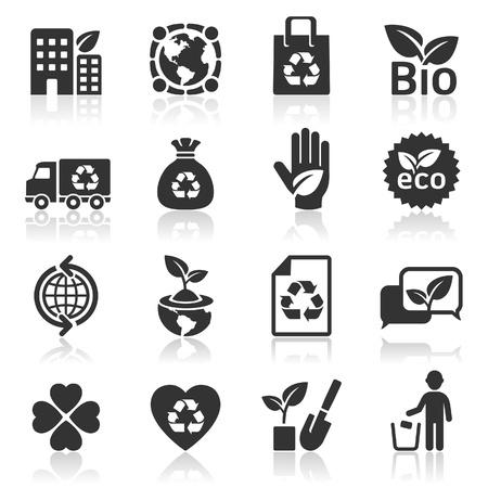 reciclar basura: Iconos de la ecología Vectores