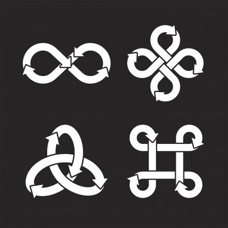 mobius symbol: Infinity symbol icons  Vector Illustration  Illustration