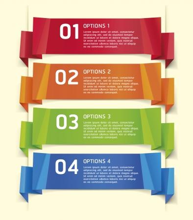 bijsluiter: Kleurrijke Origami Stijlnummer Opties Banner