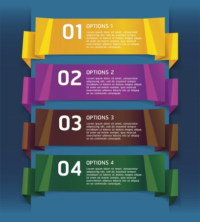 Colorful Origami Style Number Options Banner Stock Vector - 16793758