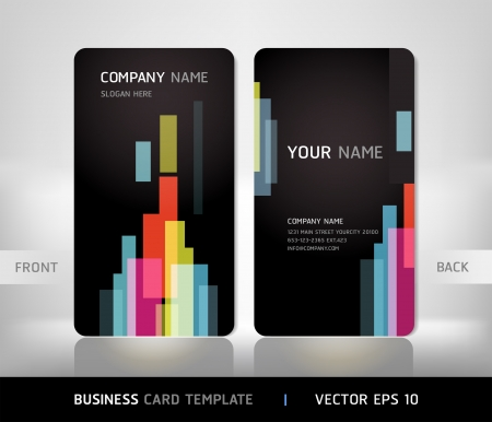 name: Business card set with abstract background. Illustration