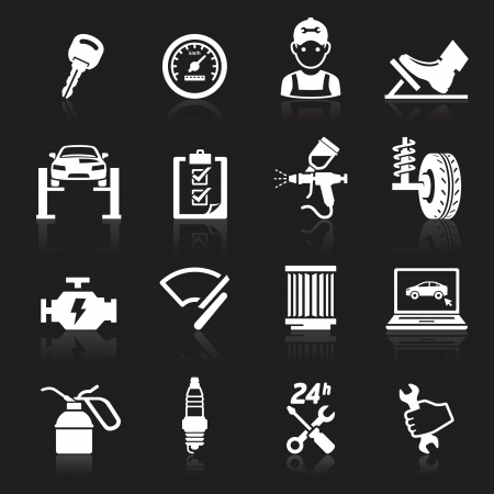 transportation silhouette: Car service maintenance icon  Illustration